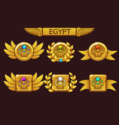 receiving cartoon game achievement egyptian vector image