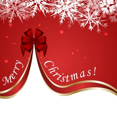 Red Christmas Design vector image