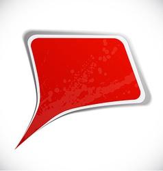 Red grunge speech label design vector