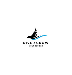 river crow vector image