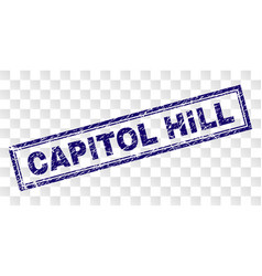 Scratched capitol hill rectangle stamp vector