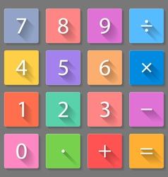 Set calculator flat icons vector