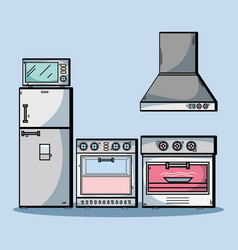 Technology machines to used in kitchen vector