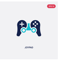 two color joypad icon from electronic stuff fill vector image