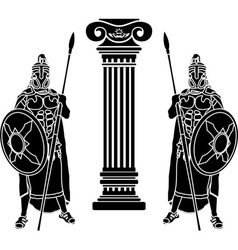Two hoplits and column stencil vector