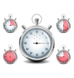 vector chrome stopwatch vector image