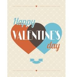 Vintage Valentines Day type text calligraphic vector