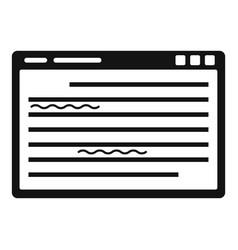 Web editor icon simple style vector