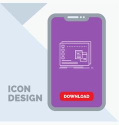 Window mac operational os program line icon in vector