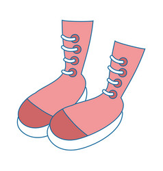 Woman fashion boots vector