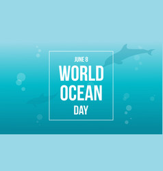 World ocean day background style vector