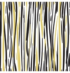 Abstract hand drawn black and gold seamless vector image vector image