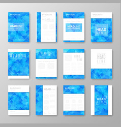 Brochure design with abstract background vector