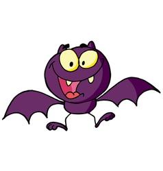 Cartoon Character Happy Bat vector image vector image