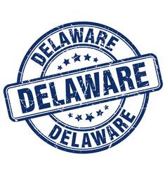 Delaware blue grunge round vintage rubber stamp vector