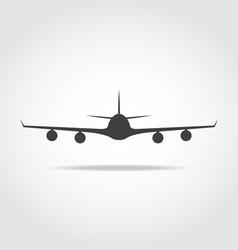 Front Plane Black Icon vector image