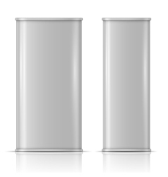 Tin oil can front and side view vector image vector image