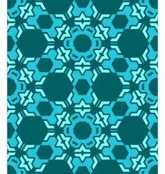 abstract geometric blue seamless pattern vector image vector image