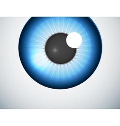 Blue eye ball background vector image
