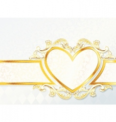 heart emblem background vector image