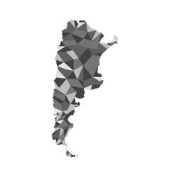 map of Argentina design polygo vector image