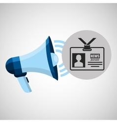 megaphone concept tv news design vector image