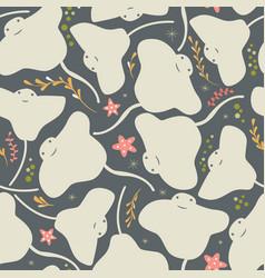 seamless pattern with underwater ocean animals vector image vector image
