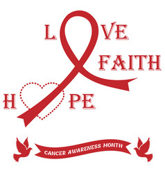 banner with ribbons against the cancer vector image