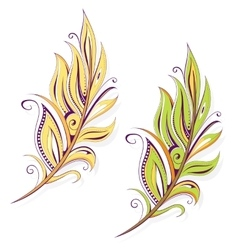 Feather drawing vector image vector image