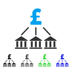 pound bank association flat icon vector image vector image