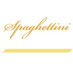 Spaghettini pasta vector