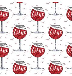 wine simple pattern vector image