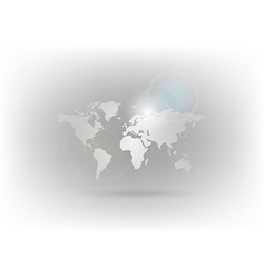 world map gray vector image vector image