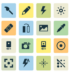 Image icons set collection of photographing blur vector