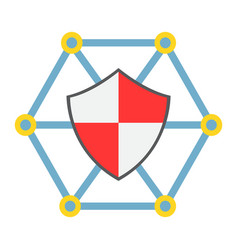 network protection flat icon seo and development vector image