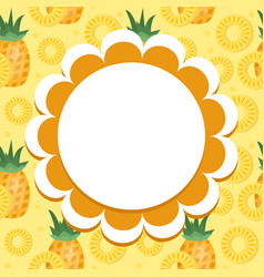 Pineapple label wrapper template for your design vector