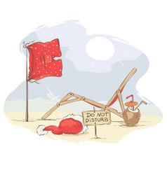 santa claus beach vacation vector image vector image
