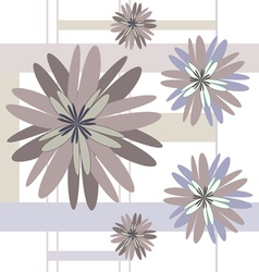 seamless pattern beige flowers vector image vector image