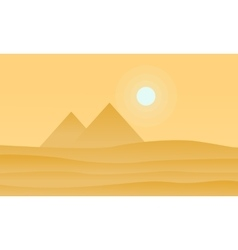 Silhouette of pyramid and sun vector image vector image