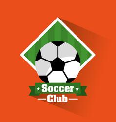 soccer club ball banner sport vector image