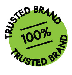 100 percent trusted brand label vector
