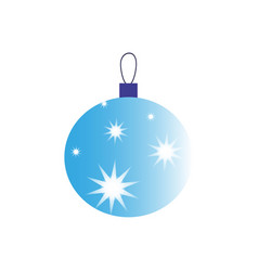 a christmas ball of icon holiday day vector image