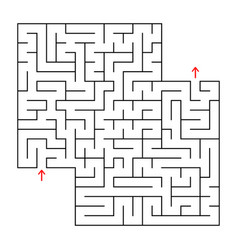 abstract square isolated maze black color an vector image