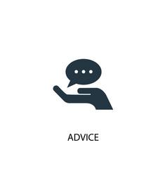 Advice icon simple element advice vector