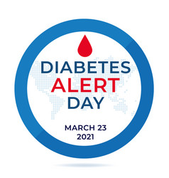 american diabetes alert day banner or flyer with vector image