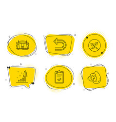 Arena stadium checklist and undo icons set vector