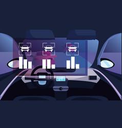 Autonomous smart car vector