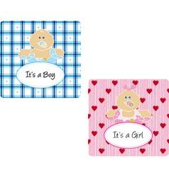 babycard vector image