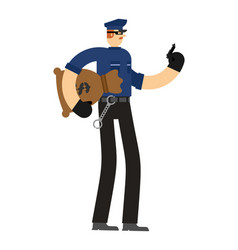 Bad policeman corruption cop corrupted officer vector