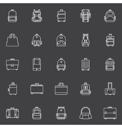Bags icons set vector